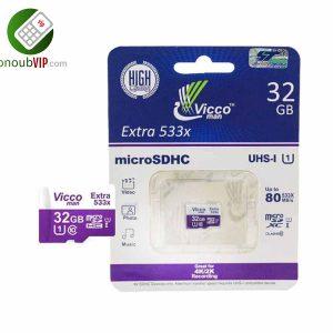 رم میکرو ظرفیت 32گیگابایت microSDHC ویکو من Extra 533X